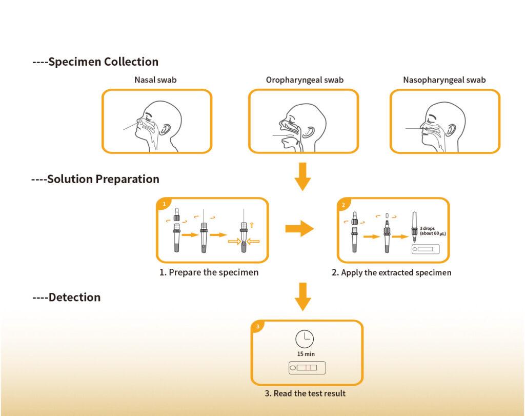 Steps for Simple Test — Immupass VivaDiag™ SARS-CoV-2 Ag Rapid Test — www.sk-telemed.co.at